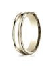 Benchmark-10K-Yellow-Gold-6mm-Comfort-Fit-High-Polished-w/-Milgrain-Round-Edge-Carved-Design-Band--Sz-4--RECF760110KY04