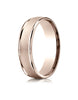 Benchmark-14K-Rose-Gold-6mm-Comfort-Fit-Wired-Finished-High-Polished-Round-Edge-Carved-Design-Band-Sz-4--RECF760214KR04