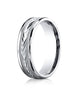 Benchmark-Palladium-6mm-Comfort-Fit-Harvest-of-Love-Round-Edge-Carved-Design-Wedding-Band-Ring--Size-4--RECF7603PD04