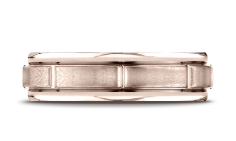 Benchmark-14K-Rose-Gold-6mm-Comfort-Fit-Satin-Finish-8-Center-Cuts-and-Round-Edge-Band--Size-4.25--RECF7645214KR04.25