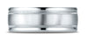 Benchmark-18K-White-Gold-8mm-Comfort-Fit-Satin-Finish-Center-w/-Milgrain-Round-Edge-Band--Size-4.25--RECF7801S18KW04.25
