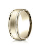 Benchmark-14K-Yellow-Gold-8mm-Comfort-Fit-Satin-Finish-Center-w/-Milgrain-Round-Edge-Band--Size-4--RECF7801S14KY04