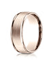 Benchmark-14K-Rose-Gold-8mm-Comfort-Fit-Satin-Finish-High-Polished-Round-Edge-Carved-Design-Band--Size-4--RECF7802S14KR04