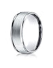 Benchmark-14K-White-Gold-8mm-Comfort-Fit-Satin-Finish-High-Polished-Round-Edge-Carved-Design-Band--Sz-4--RECF7802S14KW04