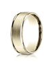 Benchmark-14K-Yellow-Gold-8mm-Comfort-Fit-Satin-Finish-High-Polished-Round-Edge-Carved-Design-Band-Sz-4--RECF7802S14KY04