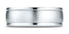 Benchmark-14K-White-Gold-8mm-Comfort-Fit-Wire-Brush-Finish-High-Polished-Round-Edge-Band--Size-4.25--RECF780214KW04.25