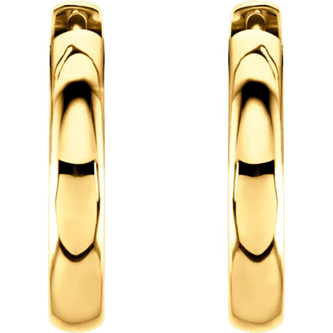 14k Yellow Gold 17.5mm Hinged Hoop Earrings