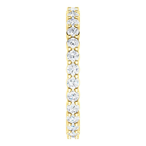 14k Yellow Gold 5/8 CTW Diamond Eternity Band Size 6