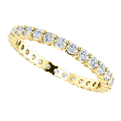 14k Yellow Gold 3/4 CTW Diamond Eternity Band Size 8