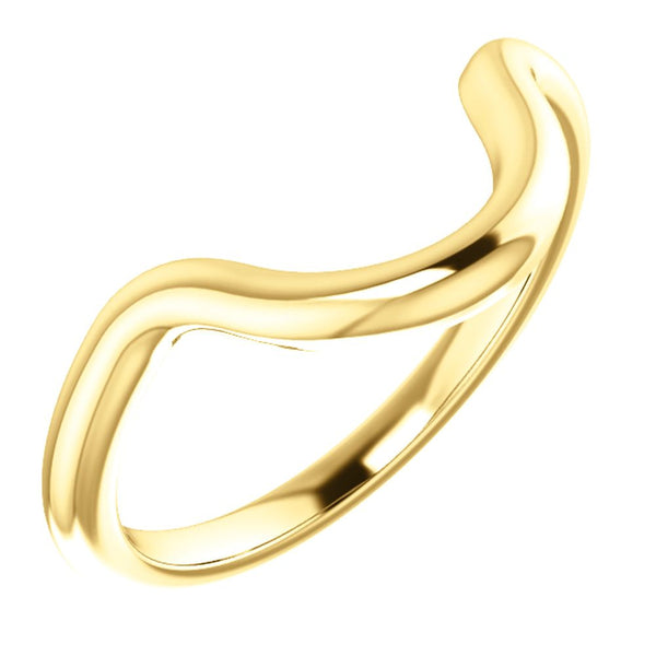 14k Yellow Gold Band Mounting for 16x12mm Oval Ring, Size 7