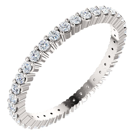 14k White Gold 1/2 ctw. Diamond Eternity Band, Size 6