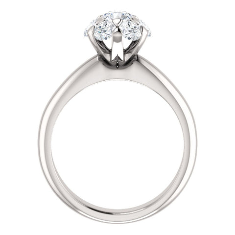 10k White Gold 1 CTW Diamond Cluster Engagement Ring, Size 7