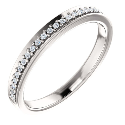 Platinum 1/8 CTW Diamond Anniversary Band , Size 7