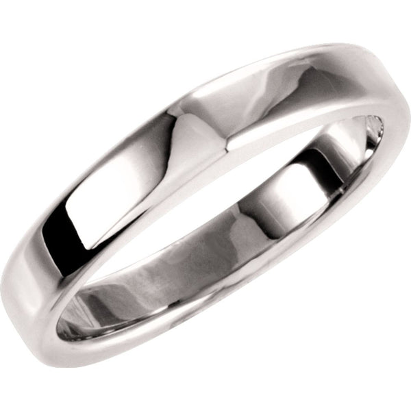 14k White Gold Band for Square Shank Solitaire Mounting, Size 7