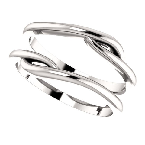 14k White Gold Ring Guard, Size 7