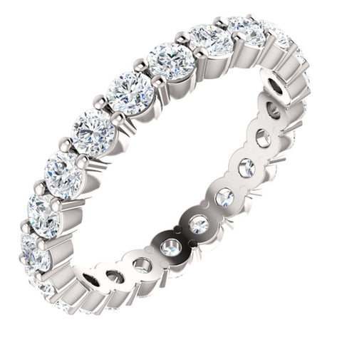 Platinum 1 1/4 CTW Diamond Eternity Band Size 7