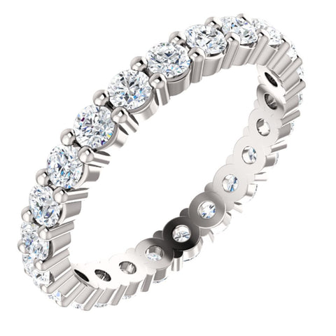 14k White Gold 1 1/6 CTW Diamond Eternity Band Size 5
