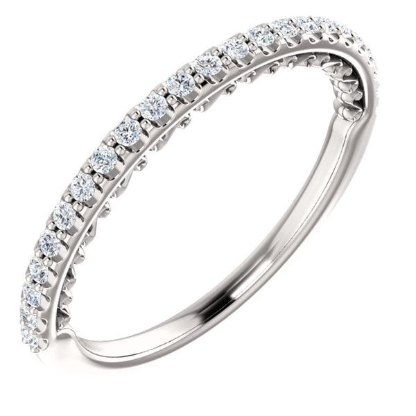 14k White Gold 1/4 CTW Diamond Anniversary Band, Size 7