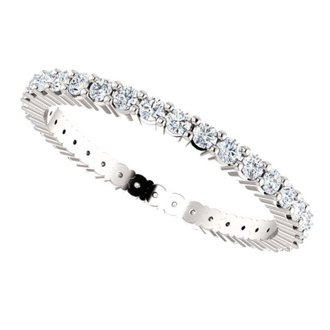 14k White Gold 1/2 CTW Diamond Eternity Band Size 6