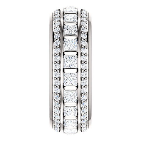 Platinum 1 3/4 CTW Diamond Eternity Band, Size 7