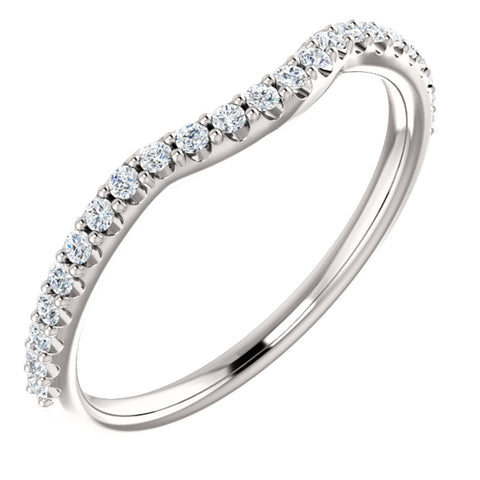 14k White Gold 1/4 ctw. Diamond Contour Band, Size 7