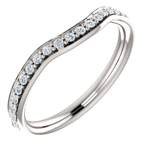 14k White Gold 1/4 CTW Diamond Band, Size 7