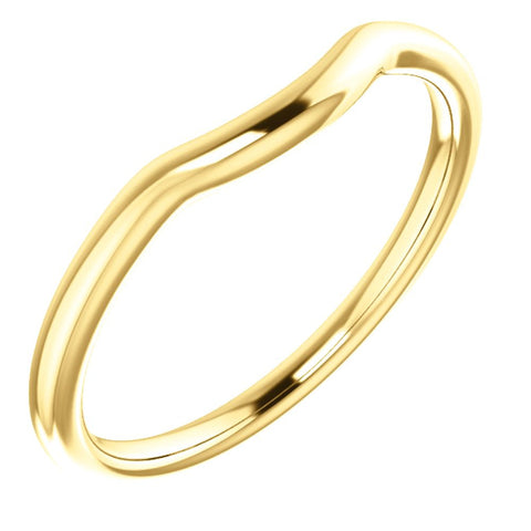 14k Yellow Gold Contour Band , Size 7