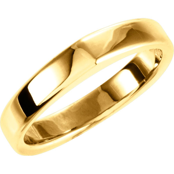14k Yellow Gold Band for Square Shank Solitaire Mounting, Size 7
