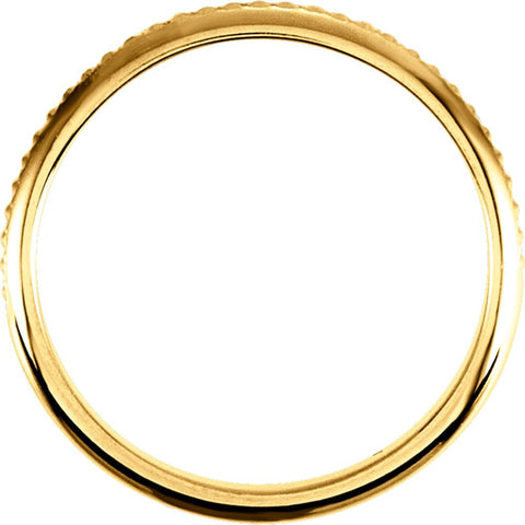 14k Yellow Gold 2mm Design Band Size 5