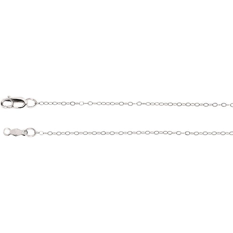 1mm Lasered 24-Inch Chain in 14K White Gold