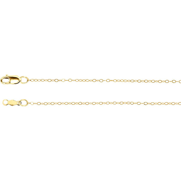 "14k Yellow Gold 1mm Curb 16"" Chain"