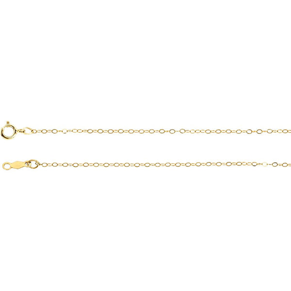 "14k Yellow Gold 1mm Curb 18"" Chain"