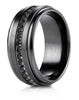 Benchmark-Black-Titanium-9mm-Comfort-Fit-Black-CZ-Eternity-Ring--Size-6--CF69491BKT06
