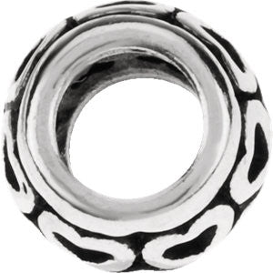 Sterling Silver 8mm Heart Spacer Bead
