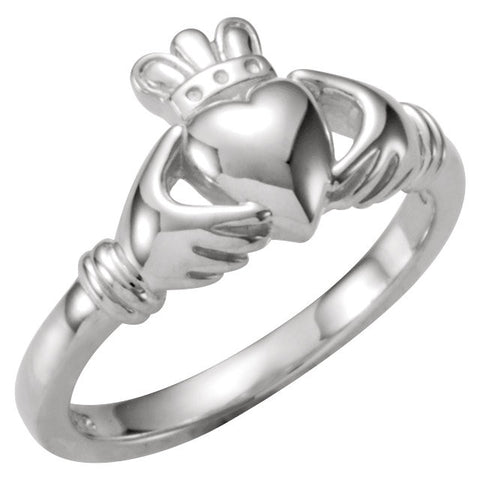 Kids' Claddagh Ring in Sterling Silver (Size 6)
