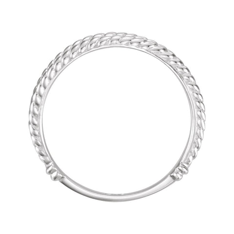 14k White Gold Ichthus (Fish) Chastity Ring, Size 7