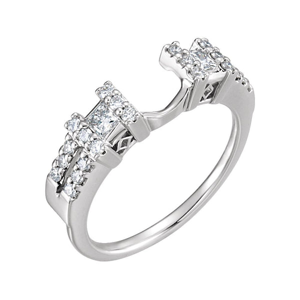 14k White Gold 1/2 CTW Diamond Ring Enhancer Size 7