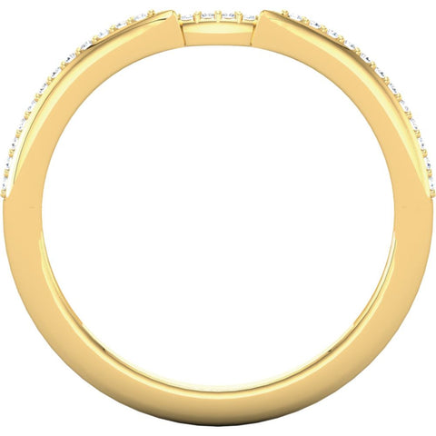 14k Yellow Gold .07 CTW Diamond Band, Size 7
