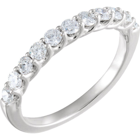 14K White Gold 5/8 CTW Diamond Band (Size 6)