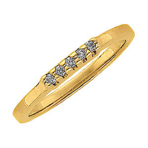 1/10 CTTW Diamond Anniversary Band in 14k Yellow Gold (Size 6 )