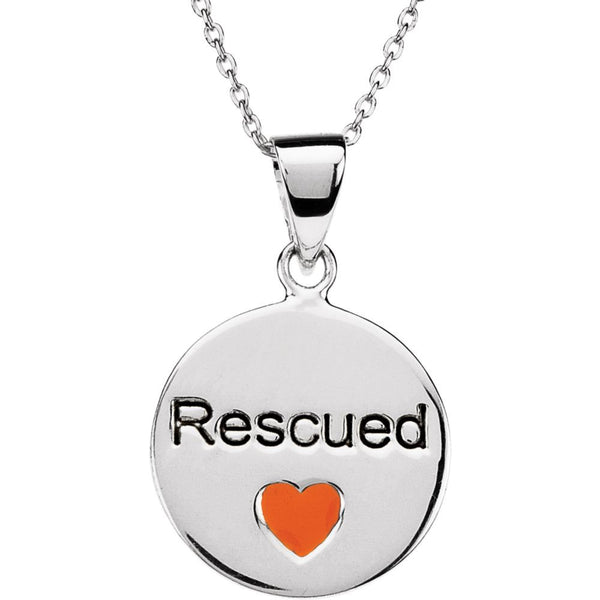 Sterling Silver Heart U Back™ Rescue Necklace