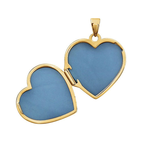 14K Yellow & White Heart Locket