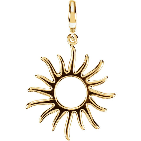 Petite Sun Charm in 14K Yellow Gold