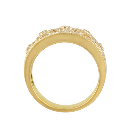 14k Yellow Gold Anniversary Band, Size 6