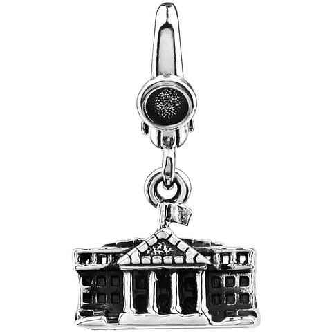 White House Charm in Sterling Silver