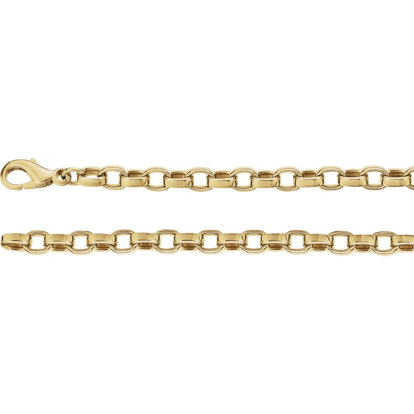 "14k Yellow Gold 4.75mm Flat Cable 18"" Chain"