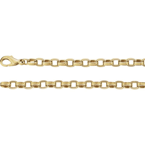 4.75 mm Flat Cable Chain in 14k Yellow Gold ( 18-Inch )