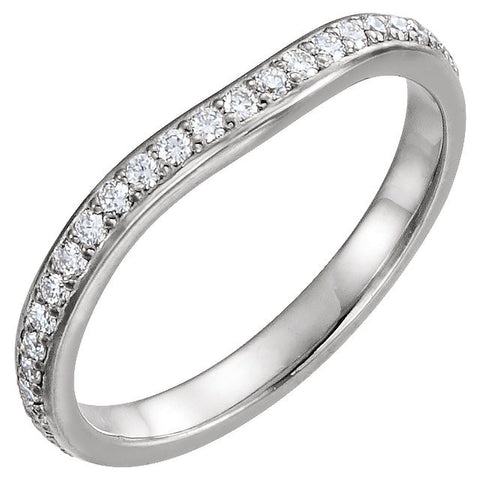 14k White Gold 3/8 CTW Diamond Eternity Band , Size 7