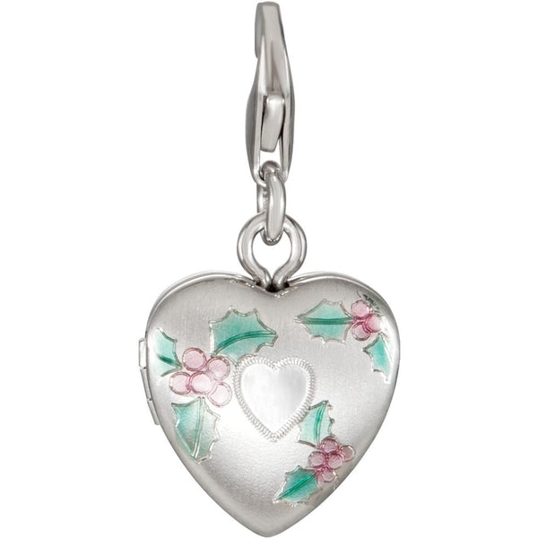 Sterling Silver Heart Locket Charm