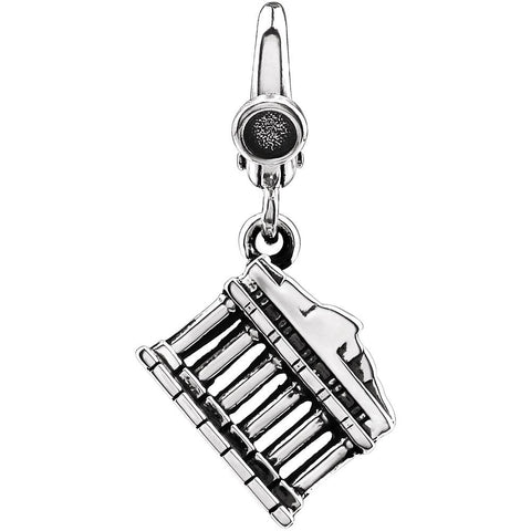 Parthenon Charm in Sterling Silver